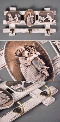 Вешалка для ключей в стиле French Vintage. Мастер-класс по декупажу