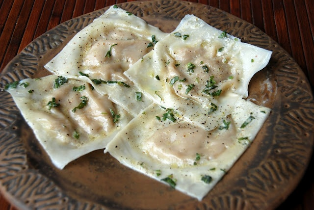 Butternut Squash Ravioli with Sage-Brown Butter Cream Sauce
