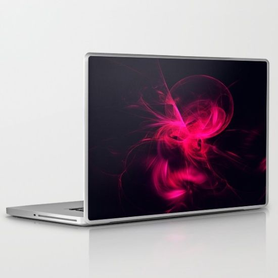 Pink+Flame+Fractal+Laptop+&+iPad+Skin+by+Tracey+Lee+Art+Designs++-+$30.00 #art #fractal #digitalart #society6 #laptop