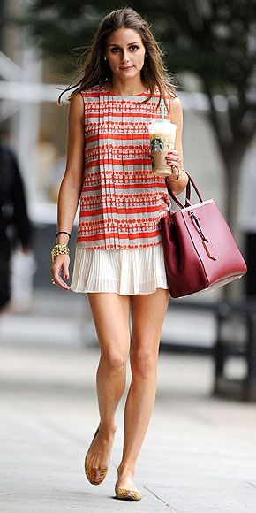 Olivia Palermo's daytime outfit is fab on its own, and would be perfect for night with a silky blazer. 340 72