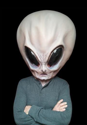 Halloween Costume Big Alien Head Halloween Mask ...