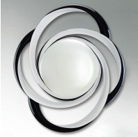 Finish: White Lacq./Black Lacq. / Glass Type: Convex