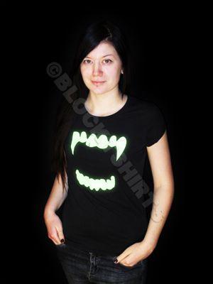 Glow in the dark vampire t-shirt by Block
