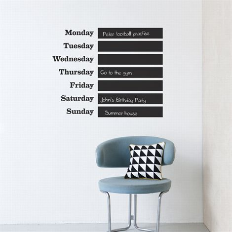This Week wall decoration