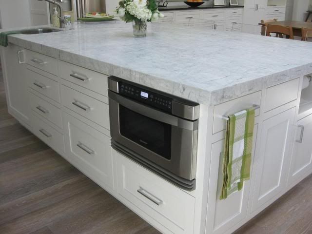 microwave location, also like the granite (white princess, bought at ...