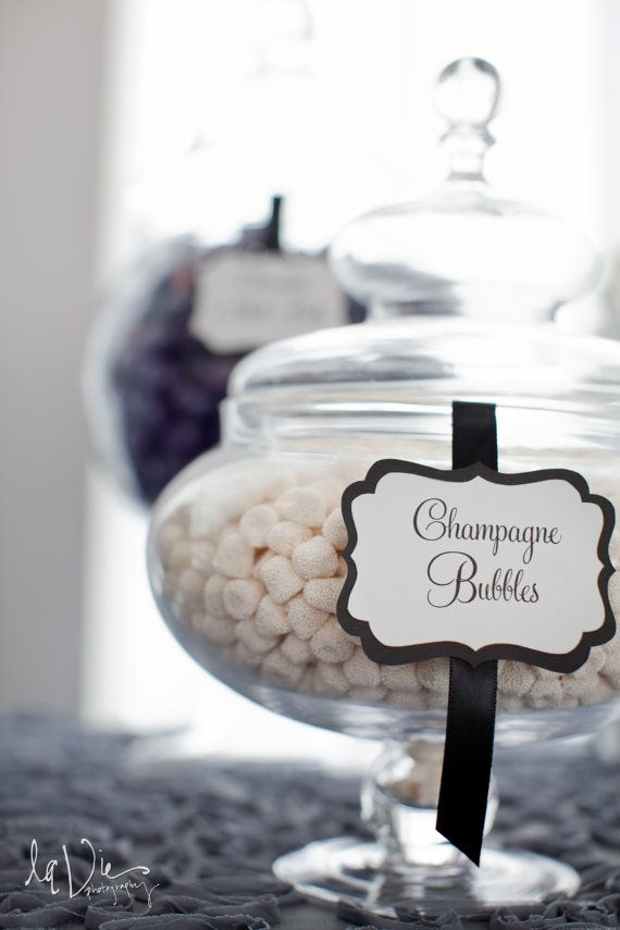 Elegant Custom Candy / Dessert Buffet Jar Signs  by ThePinkLantern, $16.75