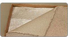 Heat insulating carpet padding