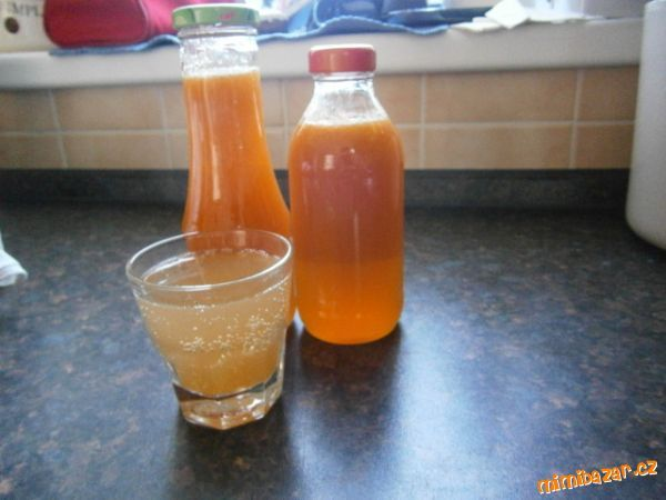 Meruňkový sirup-když už nevíte co s meruňkama