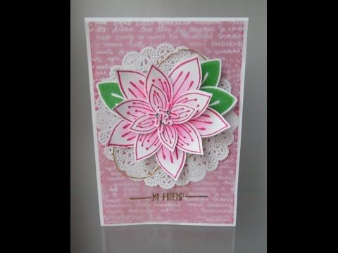 Friends & Flowers tutorial - Stampin´ Sacha