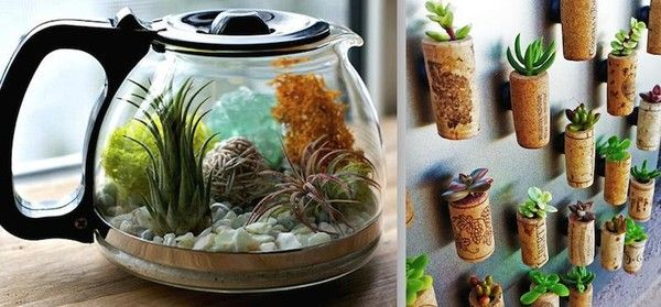 Cork planter magnets! | 13 Creative Ways To Recycle & Reuse Old Kitchen Utensils