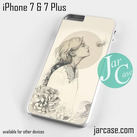 Vintage beautiful girl YP Phone case for iPhone 7 and 7 Plus