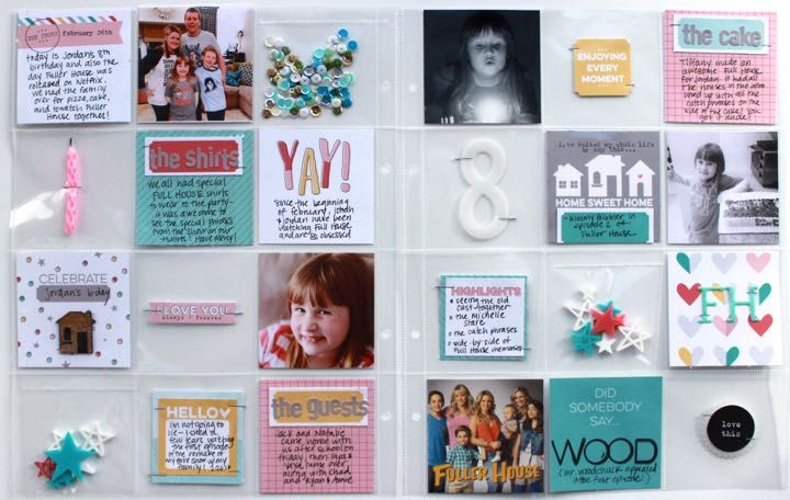 Project Life pocket pages by Jenni Hufford for Elle's Studio