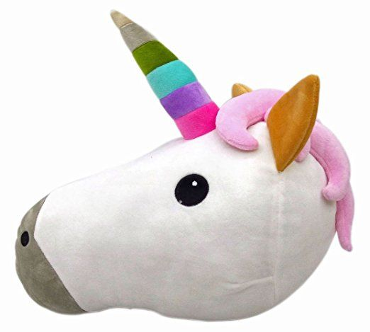 New Emojis New Smiley Emoticon Cushion Pillow Stuffed Plush Toy Doll Poop Emoji Face Bed Pillow Home Living Room Decoration Pillows USA SELLER (13X13X2 Inch, Unicorn)