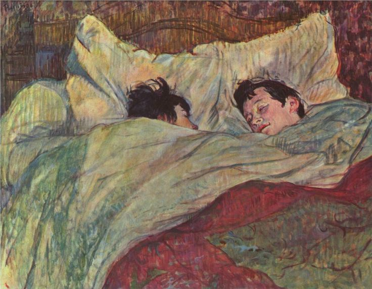 My favorite Toulouse-Lautrec pastel. I first saw this at the Musee d'Orsay. Amazing! Make ya want to snuggle up :-)