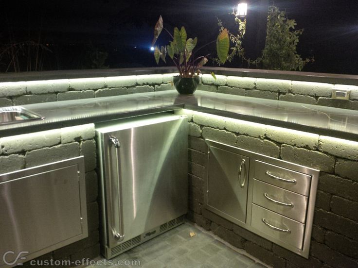 Led Kitchen Lighting Ideas Custom Effects LED Solutions Outdoor Kitchen Lighting LEDlighting Repined By Led Ideas G