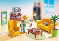 Playmobil #5308 Deluxe Dollhouse Living Room with Fireplace - New Factory Sealed