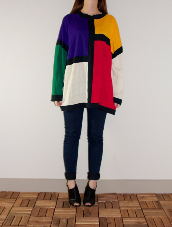 80s Colorblock Oversized Lightweight Hipster by NoteworthyGarments, $45.00