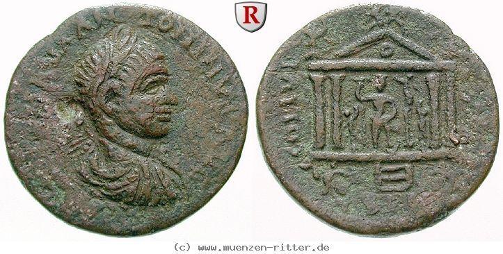 RITTER Phönizien, Berytus, Elagabal, Tempel, Astarte #coins
