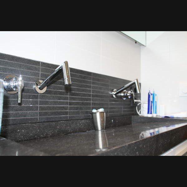 Moderne Badkamer Format Black Wandtegels 10x30