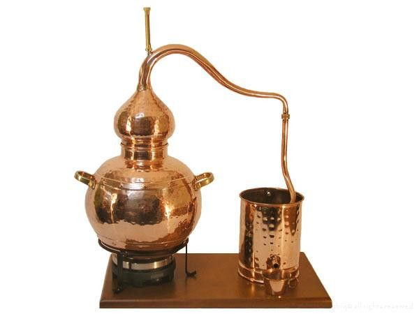 7.5 Liter Alembic Distiller With Electric Hotplate #distillation #copper #alembic #distiller #essential oil #hydrosol
