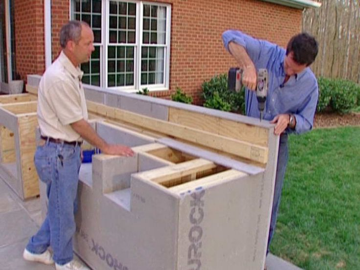 How To Build Outdoor Kitchen Making Holes Furniture Design ...