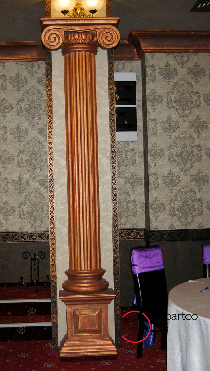 Semi coloana din polistiren in stil ionic