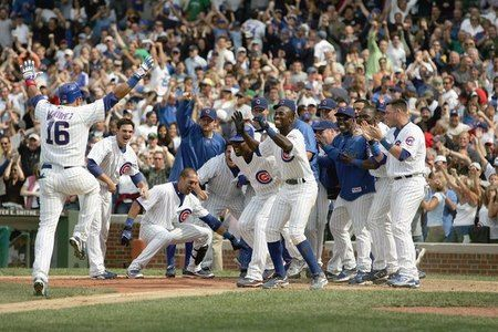 July 30, 2004  A big day for Aramis Ramirez as he hits 3 home runs to help the Cubs defeat the Philadelphia Phillies 10-7 at Wrigley Field.