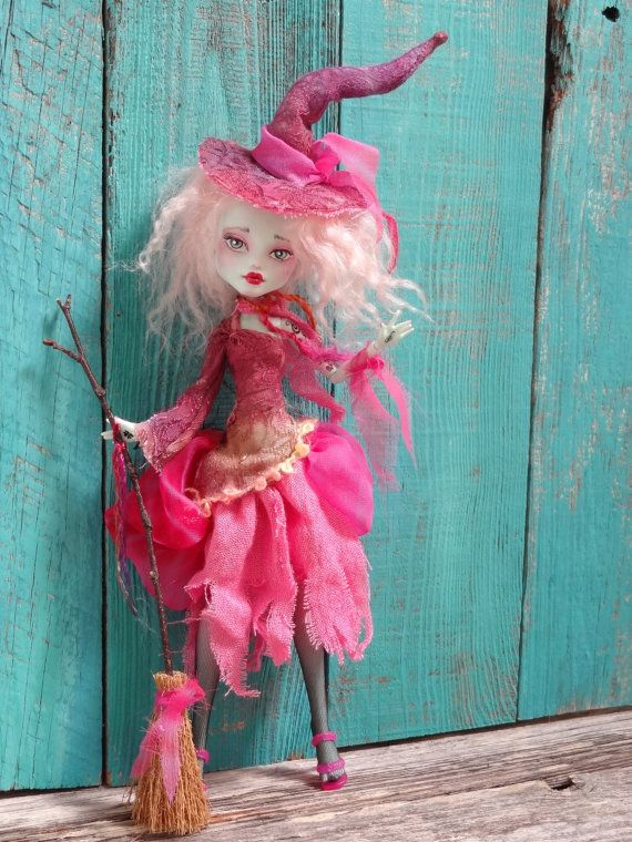 Pink Witch Monster High Frankie doll repaint by by Marinart: Custom Dolls, Custom Monsters, High Dolls, Frankie Dolls, Favorite Witch, High Frankie, Dolls Repaint, Pink Witch, Monsters High