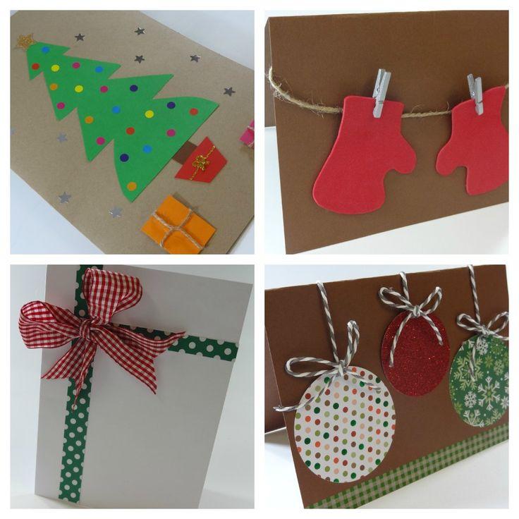taller postales navidad en casa celebra con ana crafty ideas tarjetas de navidad