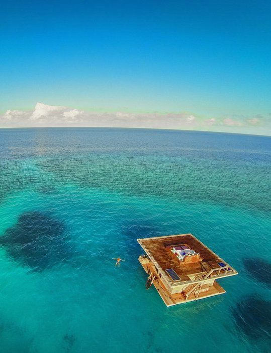 the Manta Resort, located off Pemba Island in Tanzania