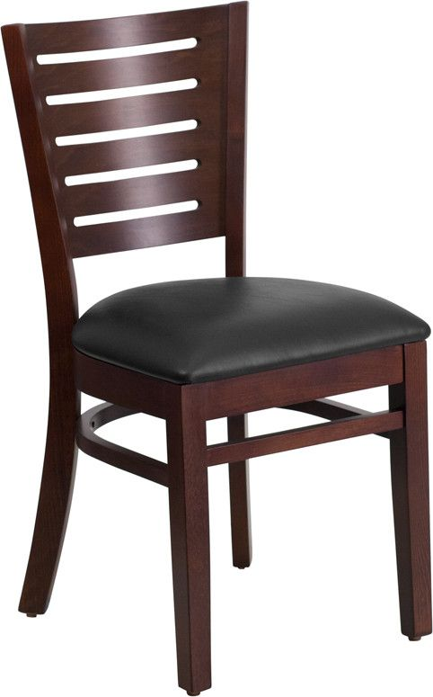 Create a first-rate dining experience by offering your patrons great food, service and attractive furnishings. The wood chair will offer a classic, elegant look when furnishing your establishment. Thi