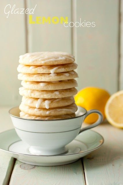 Glazed Lemon Cookies ~ I made these this past weekend and they were so delicious, a perfect summer cookie!