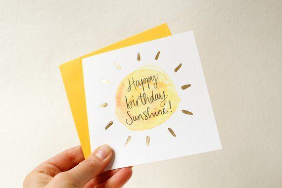 Happy Birthday Sunshine Card Sunshine Friend Happy Birthday Card
