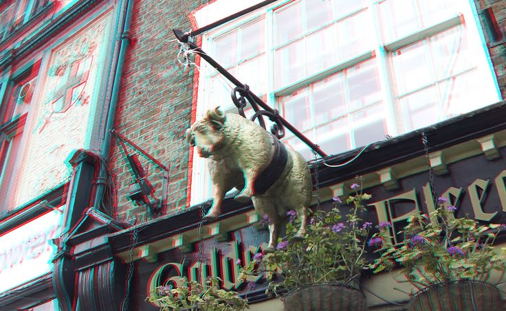 https://flic.kr/p/HdrxF5 | The Golden Fleece York 3D | anaglyph stereo red/cyan TV's Most Haunted