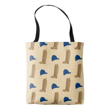 Horse Riding Boots & Hat Tote Bag - accessories accessory gift idea stylish unique custom