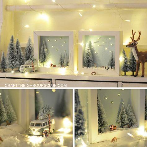Winterlandschaft Im Bilderrahmen Ein Diy Im Winter Weihnachtsdeko
