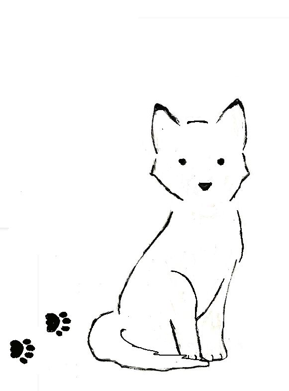 A quick husky dog outline tattoo possibly to go on my other ankle to match the cat one I have.