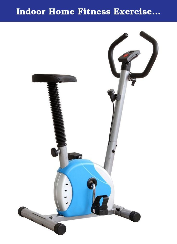 Indoor Home Fitness Exercise Bicycle Trainer Belt Resistance Stationary Bike. Blue indoor exercise bike. Great for low impact training. Low noise level. Exercise while watching TV. Digital monitor features speed, distance, time and calories. Non slip foot pedals with straps. Adjustable tension and resistance control. Adjustable handle bars and seat. Sturdy cycle made on strong tubular metal frame. Compact, portable and easy to store when not in use. Includes manual. Weighs 16 pounds with…