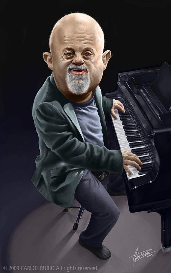Caricatura de Billy Joel.