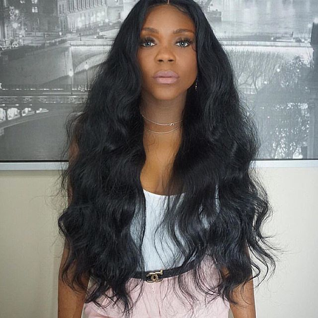 26 Body Wave STYLE  #1B France Lace 130% Density Indian Remy Human Hair Celebrity Body Wave Full Lace Wigs www.vinuss.com vinuss hair wholesale is going on Order on Website  www.vinuss.com  #virginhair #brazilianhair #peruvianhair #hairstylist #indianhair #bodywave