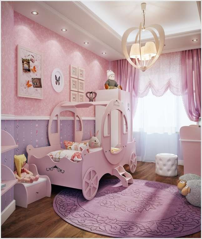 Place a Cute Princess Carriage Bed