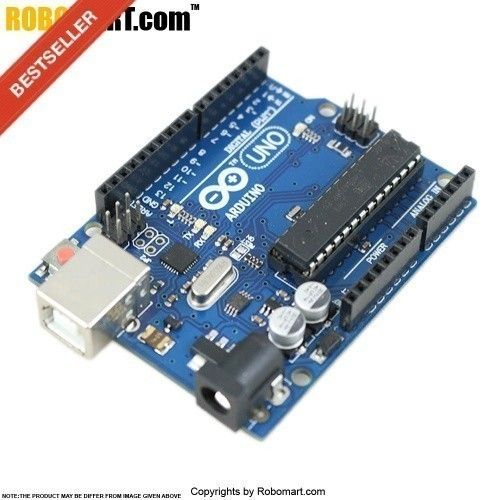The Arduino Uno Board is an open source microcontroller board based on the ATmega328 chip. This Board has 14 digital I/O pins, 6 analog input pins, onboard 16 MHz ceramic resonator, Port for USB connection, Onboard DC power jack, An ICSP header and a microcontroller reset button. Robomart is the biggest selling store in india buy arduino board, arduino india, arduino uno price, #arduinounoindia, #arduinounopriceinindia, arduino board price in india at best prices.