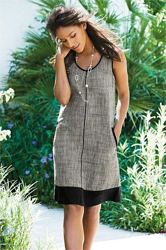 Dresses - Next Linen Blend Shift Dress - EziBuy New Zealand