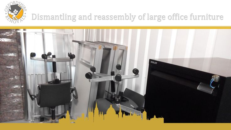 Dismantling and reassembly of large office furniture