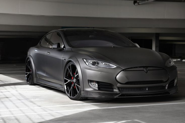 Tesla P90D Gets Custom Body kit Carbon Fiber Accents and Niche Wheels
