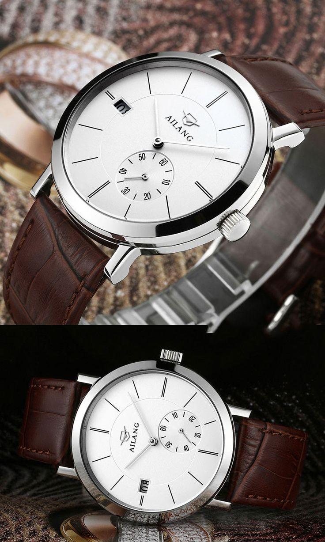 AILANG Automatische Mechanicl Horloge Mannen Lederen Zakelijke Grote Wijzerplaat Klok Heren Horloges Topmerk Luxe Relojes Hombre 2016 in            AILANG Automatische Mechanicl Horloge Mannen Lederen Zakelijke Grote Wijzerplaat Klok Heren Horloges Topmerk  van mechanische horloges op AliExpress.com | Alibaba Groep