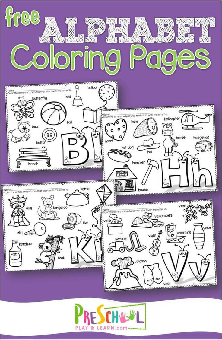 FREE Alphabet printables to help kids practice listening for the sound letters m…