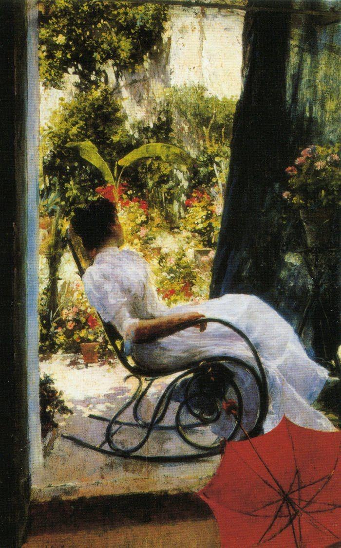 La siesta by Julio Romero de Torres (Spanish 1874-1930)