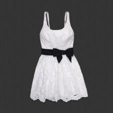 April Dress~Katie P.: Ribbons Belts, April Dresses, Abercrombie Fitch, Pretty Eyelet, Lace Bows, Flirti Dresses, Lace Dresses, Soft Ribbons, Eyelet Embroidery