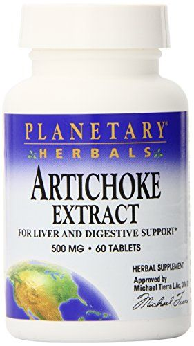Planetary Herbals Artichoke Extract Tablets 500 mg 60 Count * More info could be found at the image url.
